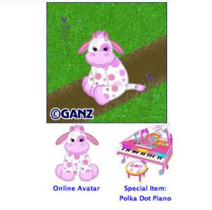 Webkinz Polka Dot Cow estore online virtual pet code HM10518
