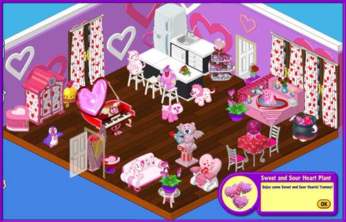 Webkinz Valentine Pet Room Decor Items and Treats