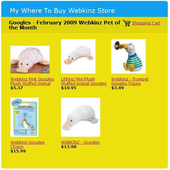 Webkinz Googles products